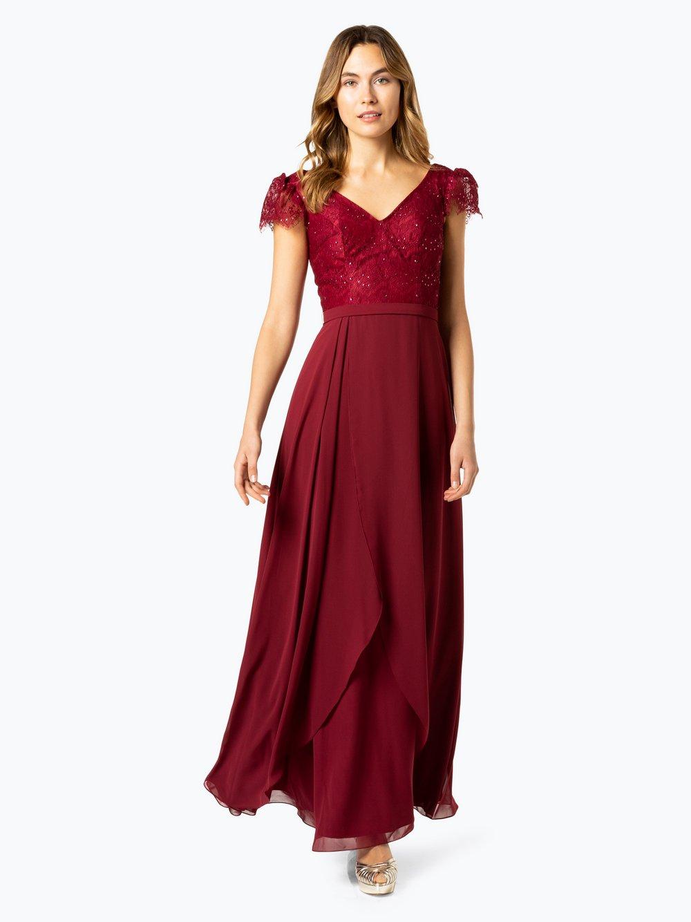 Luxuar Fashion – Damska sukienka wieczorowa, czerwony Van Graaf 433078-0002