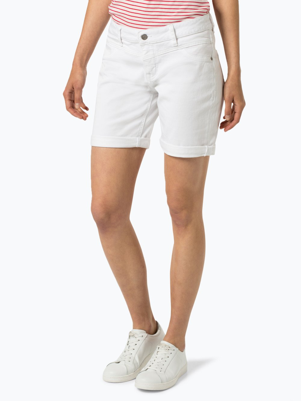 Mustang - Damskie krótkie spodenki jeansowe, biały