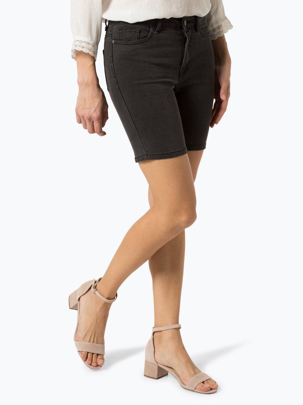 ONLY - Damskie krótkie spodenki jeansowe – Corin, czarny