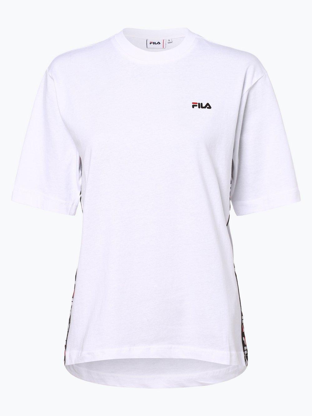 FILA - T-shirt damski, biały
