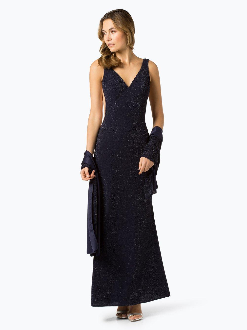 Luxuar Fashion – Sukienka wieczorowa z etolą, niebieski Van Graaf 433228-0001-00400