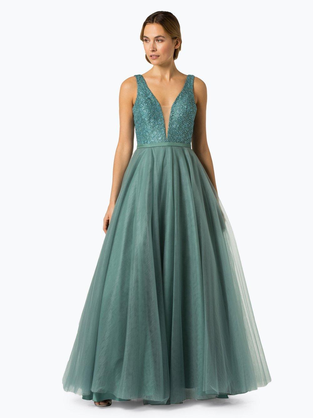 Luxuar Fashion – Damska sukienka wieczorowa, zielony Van Graaf 433234-0001