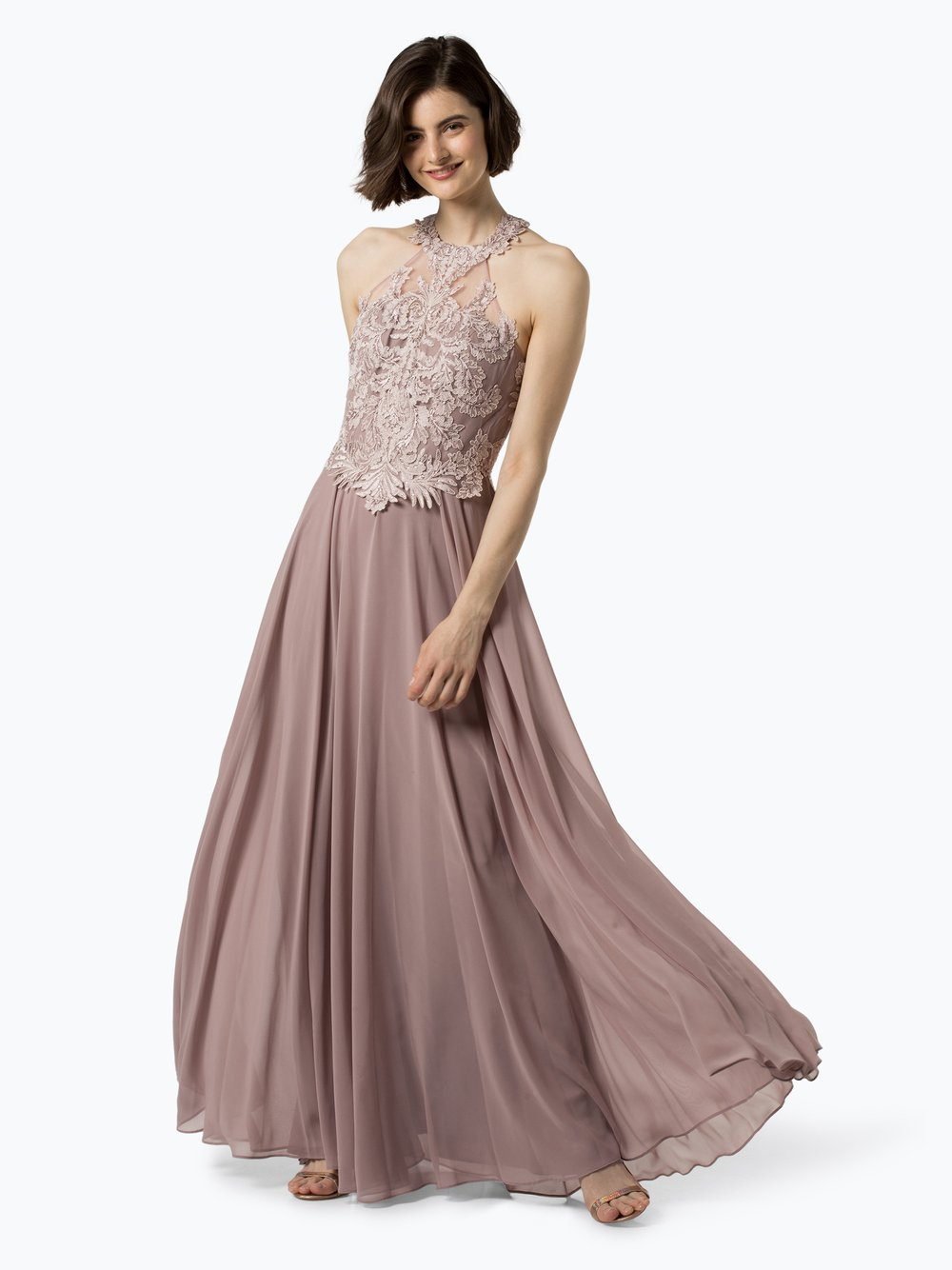 Luxuar Fashion – Damska sukienka wieczorowa, beżowy Van Graaf 433240-0002