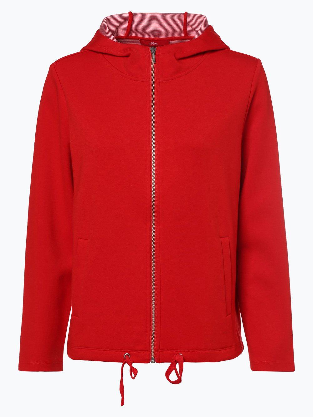 s.Oliver - Damska bluza rozpinana, czerwony