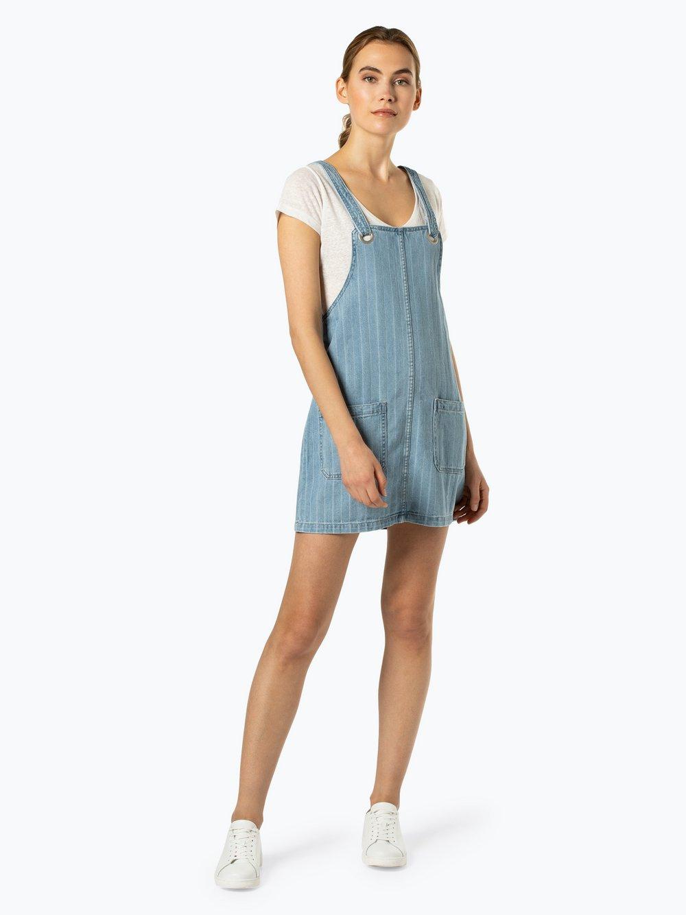 Review - Damska sukienka jeansowa, niebieski