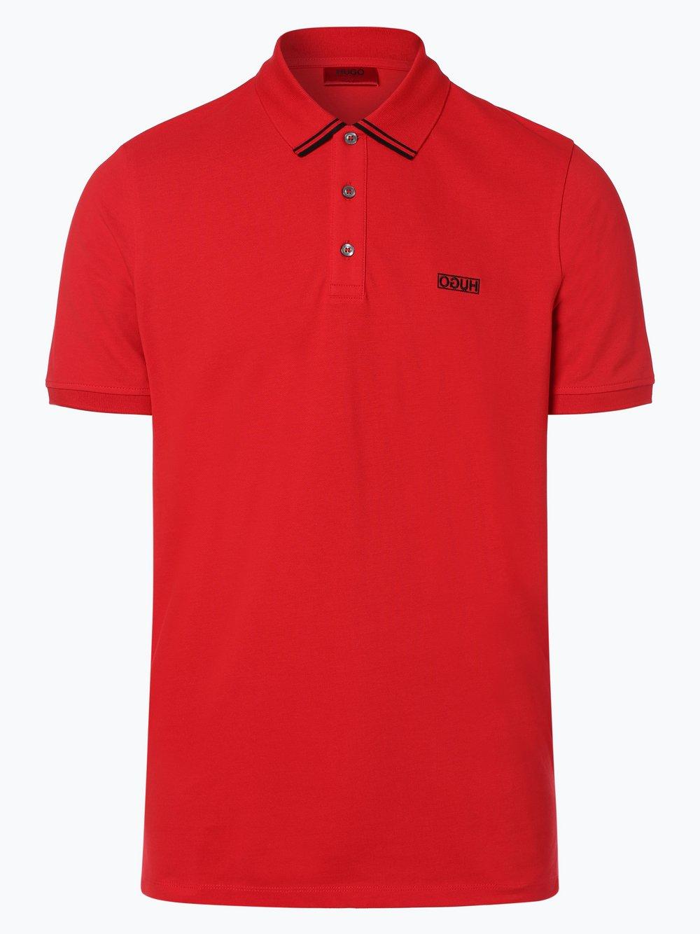 HUGO - Męska koszulka polo – Dyler193, czerwony