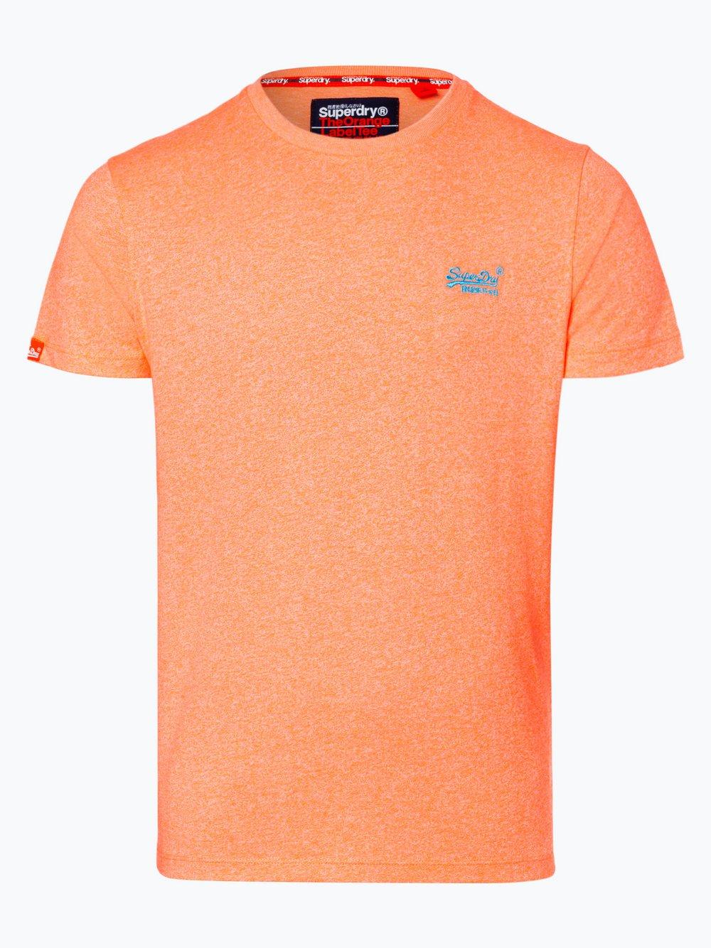 Superdry - T-shirt męski, pomarańczowy