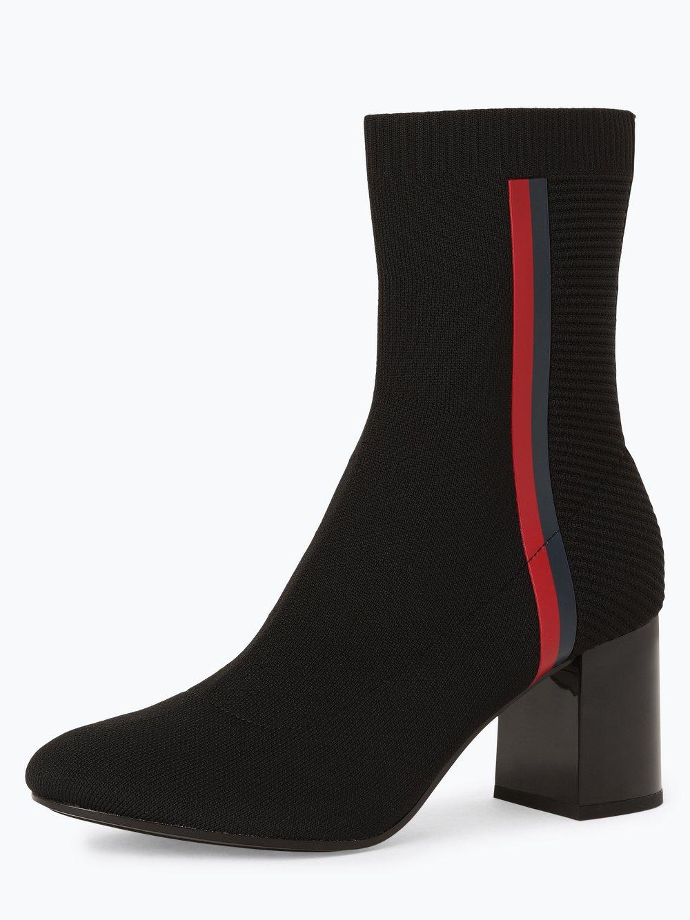Tommy Hilfiger - Damskie botki – Knitted Heeled Boot, czarny