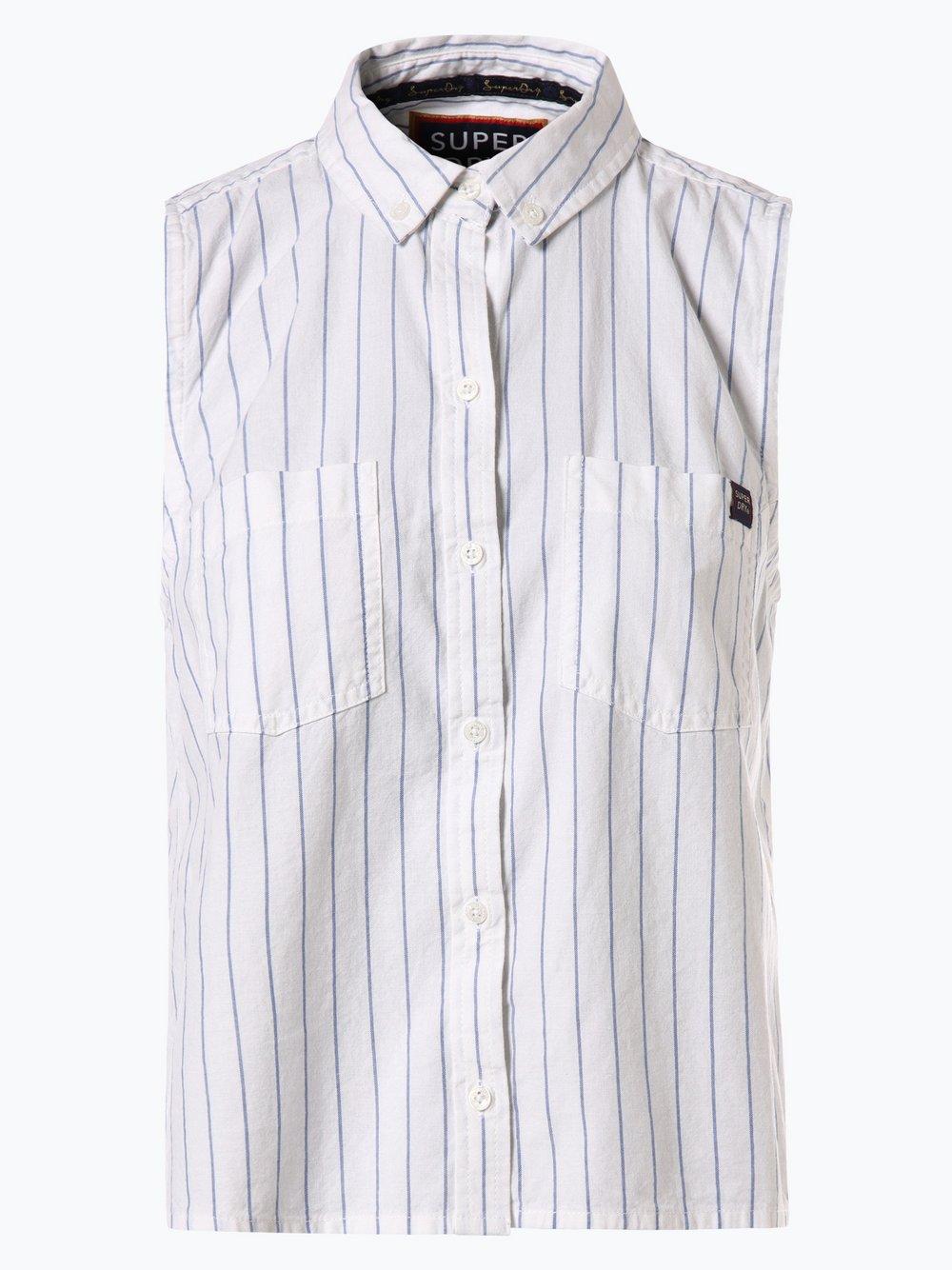 Superdry - Damska bluzka bez rękawów, biały