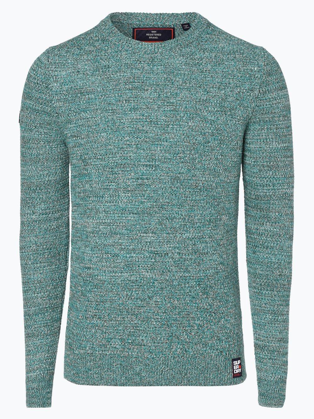 Superdry - Sweter męski, niebieski