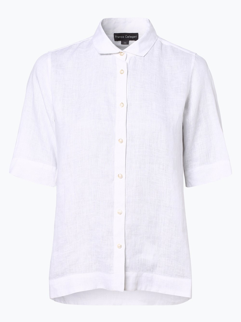 Franco Callegari - Damska bluzka lniana, biały