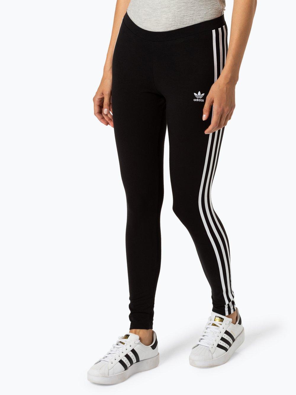 adidas Originals - Sportowe legginsy damskie, czarny
