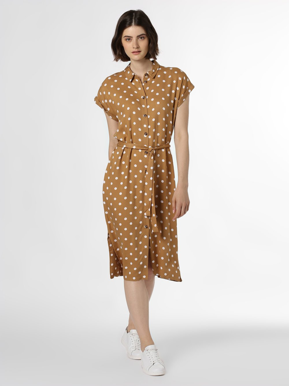 Minimum – Sukienka damska – Idot, brązowy Van Graaf 438069-0001-00360