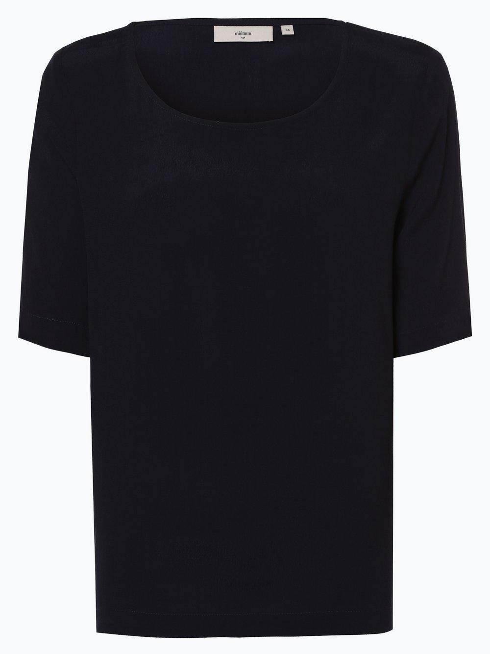 Minimum – Bluzka damska – Elvire, niebieski Van Graaf 438073-0001-00360