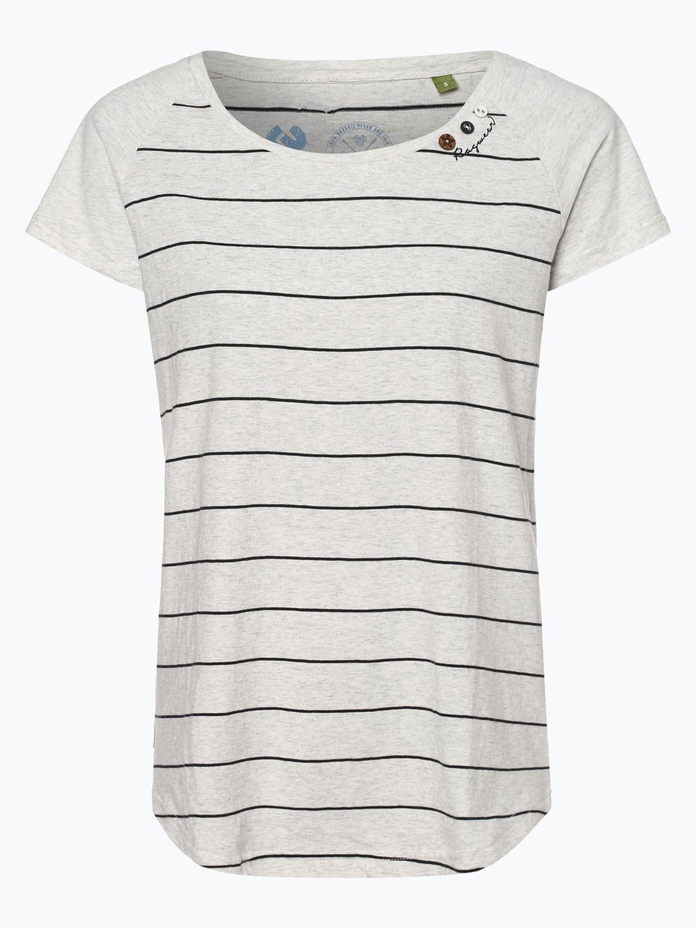 Ragwear – T-shirt damski – Mazik, biały Van Graaf 438109-0001