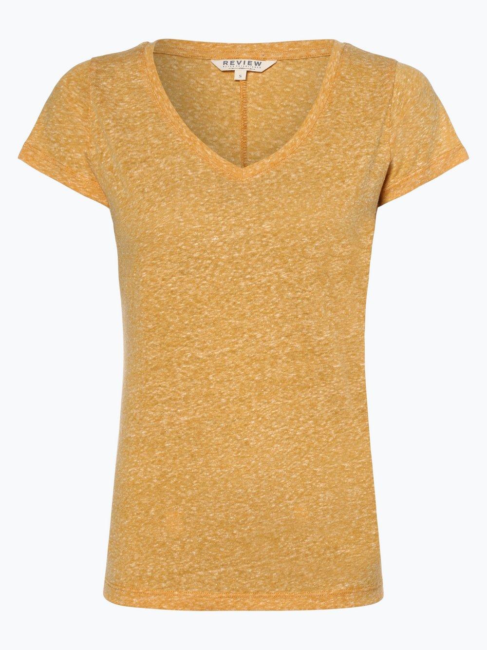 Review - T-shirt damski, żółty Review