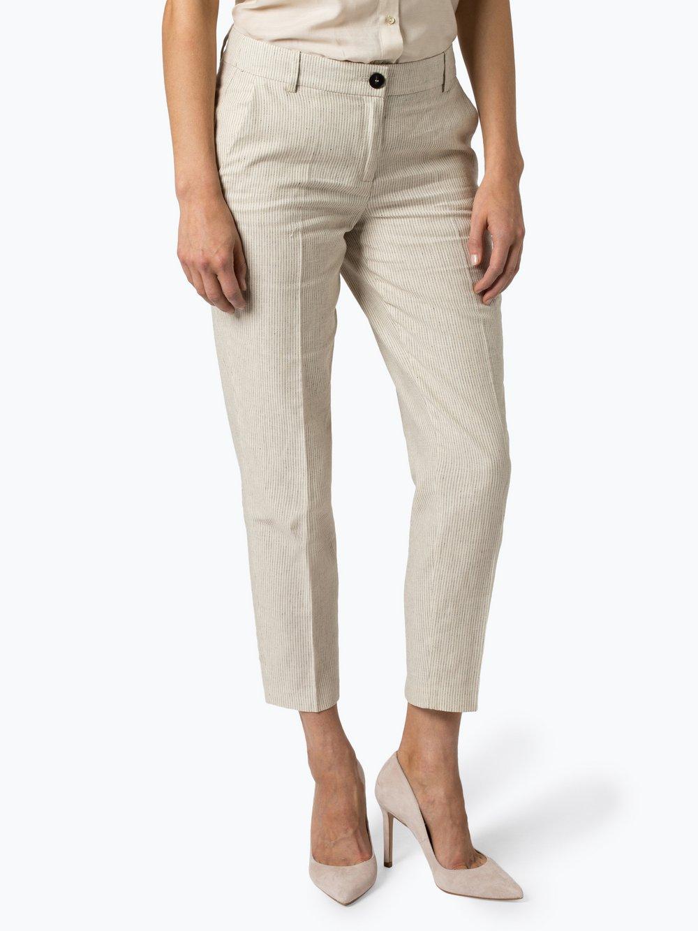 Esprit Collection – Spodnie damskie z dodatkiem lnu, beżowy Van Graaf 438483-0001-00340