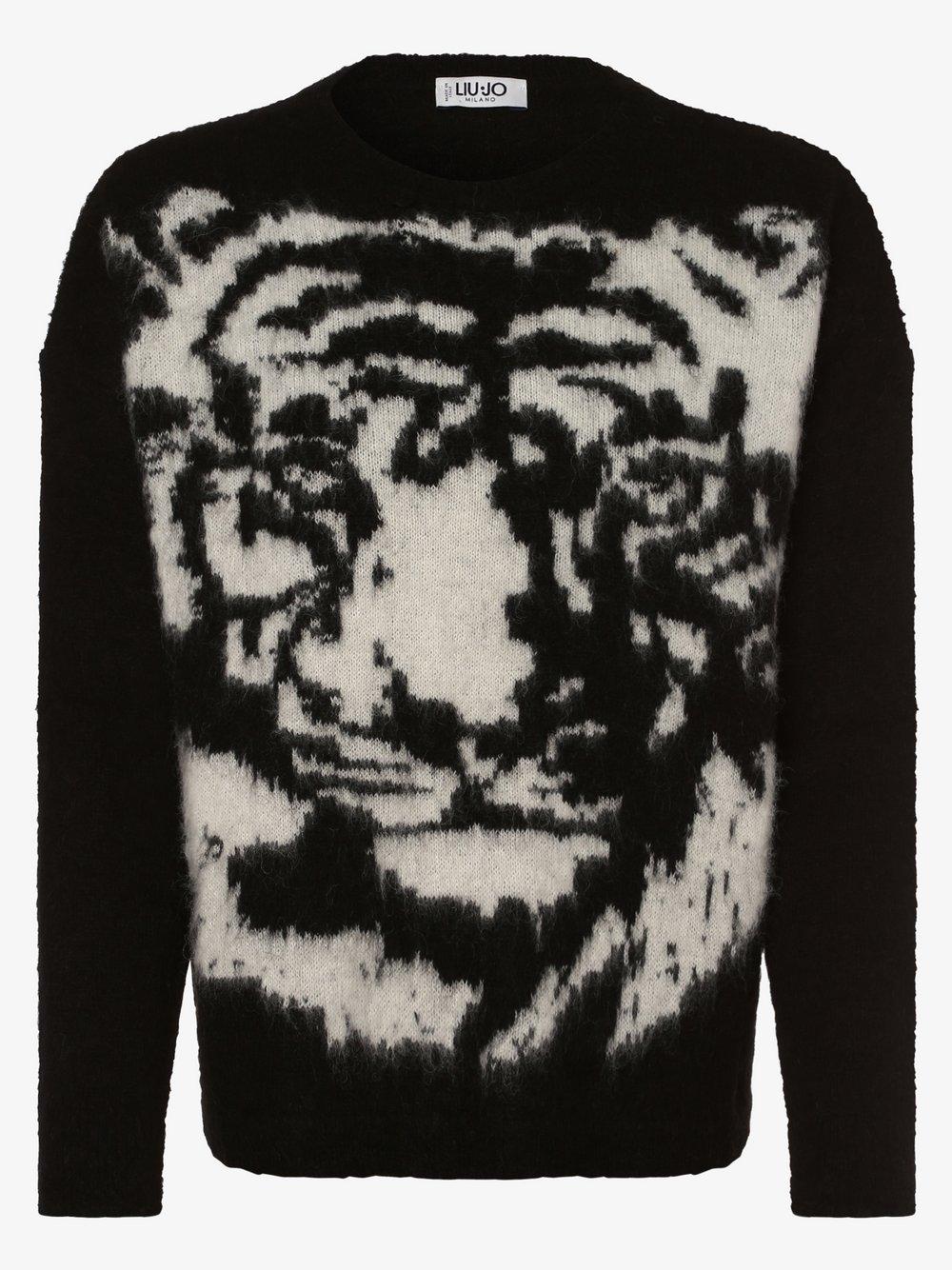Liu Jo Collection - Sweter damski z dodatkiem alpaki, czarny