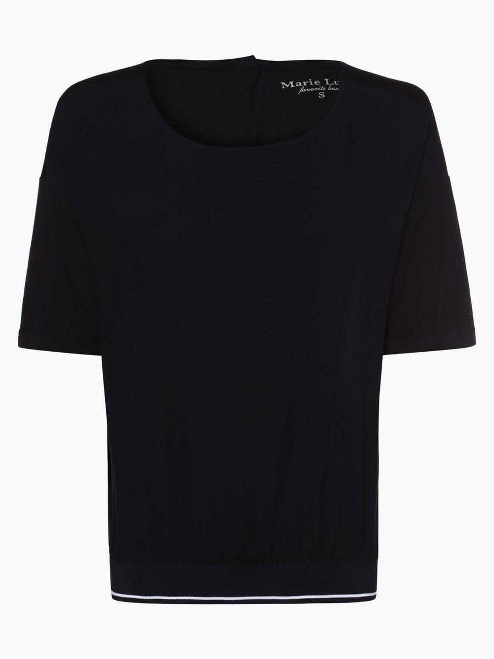 Marie Lund Sport – T-shirt damski, niebieski Van Graaf 438990-0002