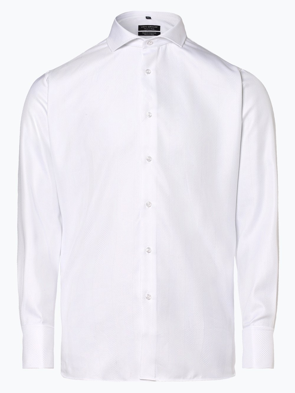 Van Graaf – Koszula męska z wywijanymi mankietami, biały Van Graaf 439076-0002