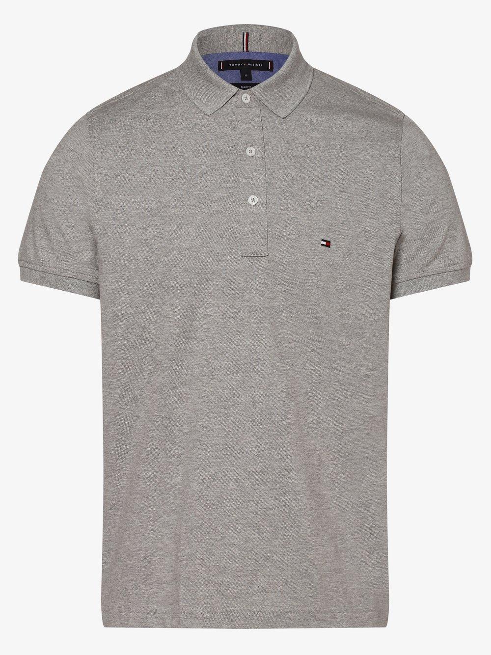 Tommy Hilfiger - Męska koszulka polo, szary