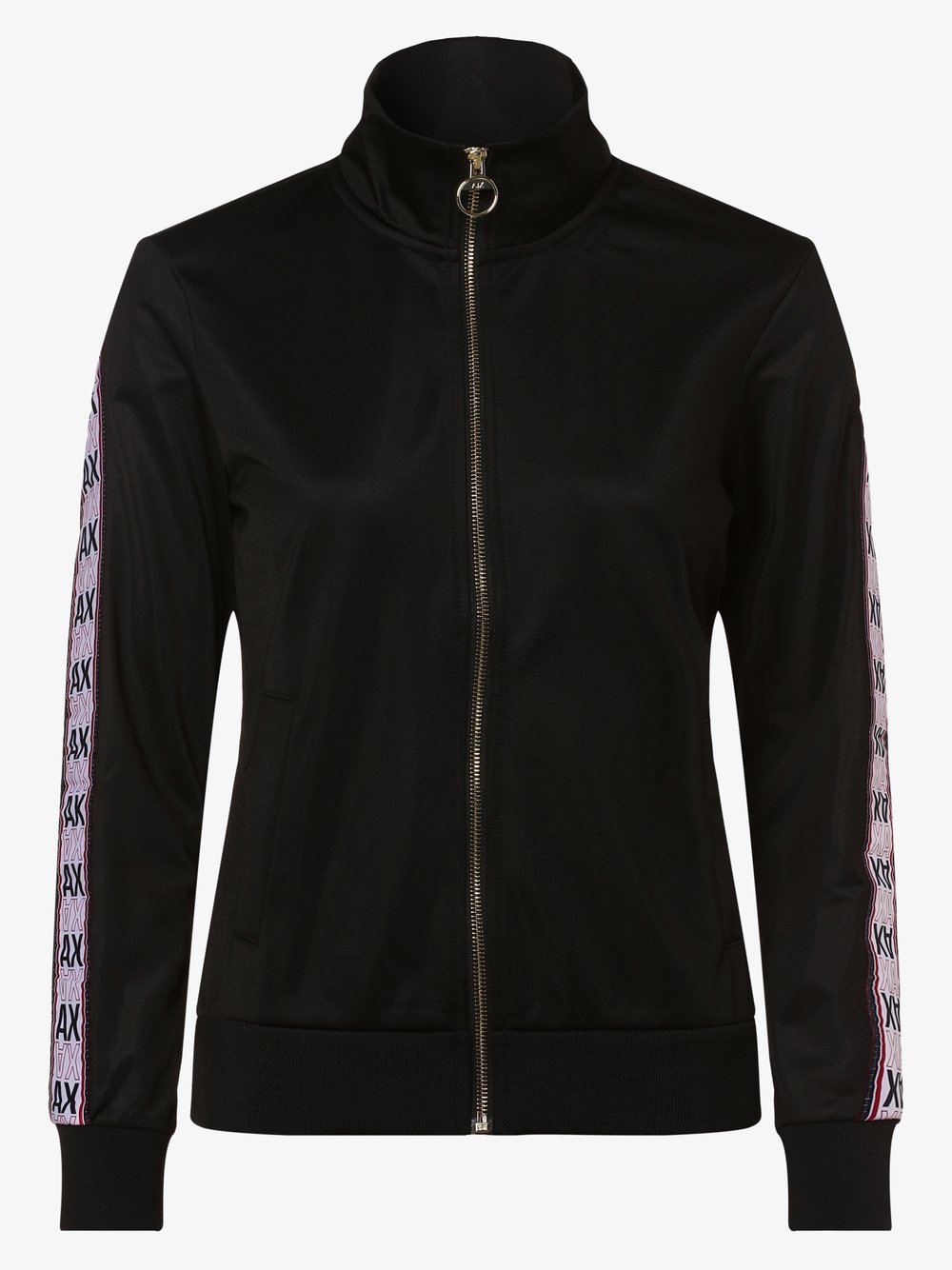 Armani Exchange - Damska bluza rozpinana, czarny