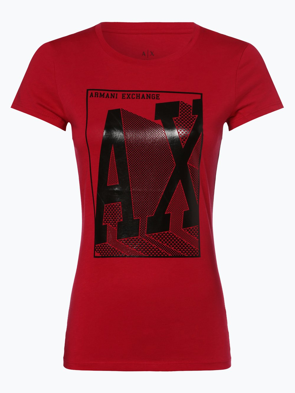 Armani Exchange - T-shirt damski, różowy Armani Exchange