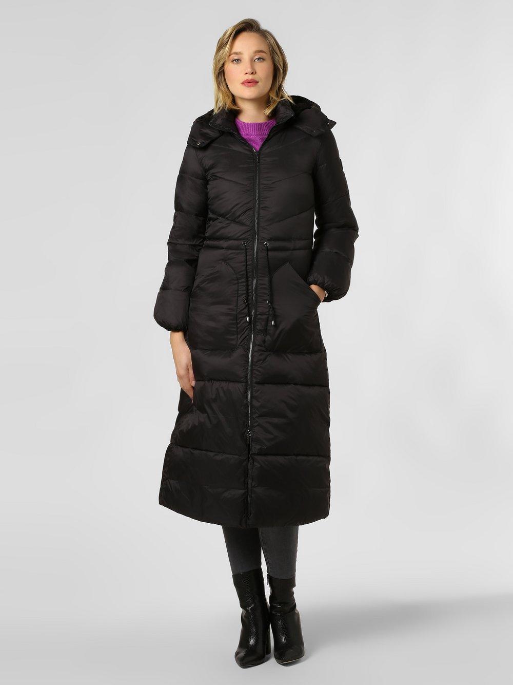 Armani Exchange - Damski płaszcz pikowany, czarny