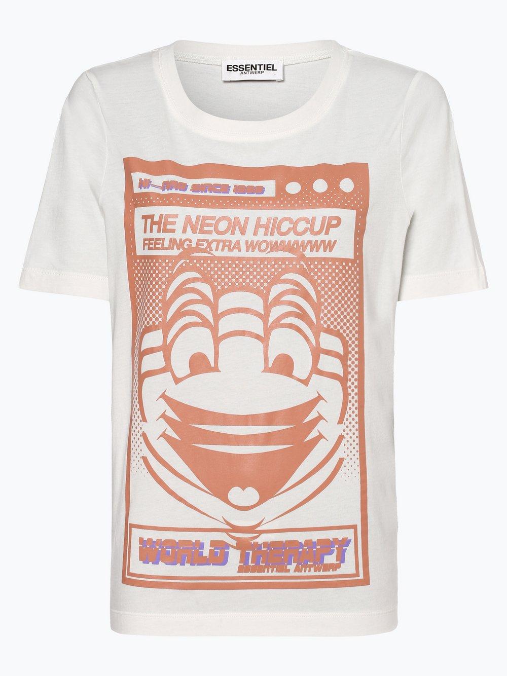 Essentiel Antwerp – T-shirt damski, beżowy Van Graaf 439854-0001-09920