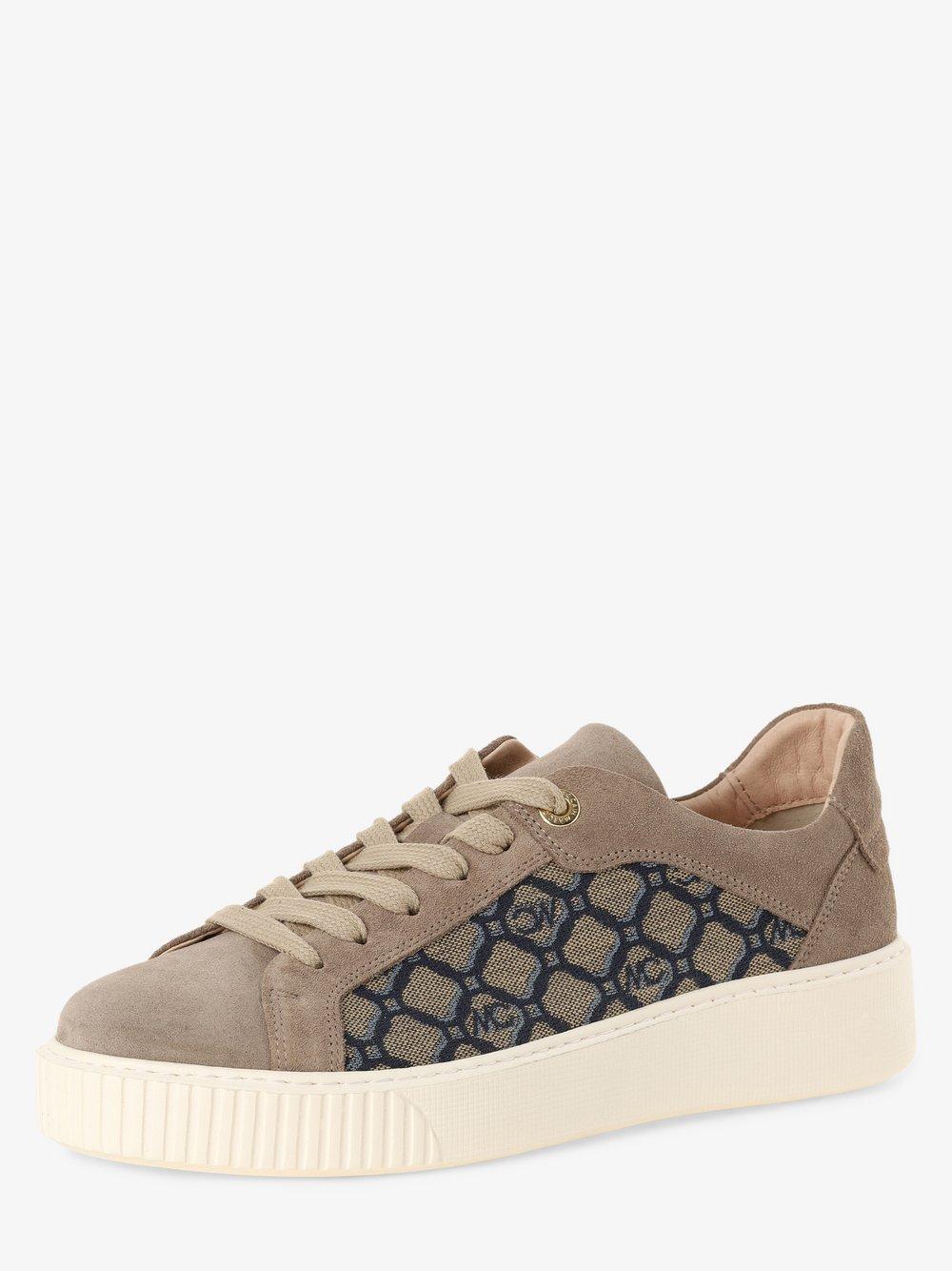 Marc Cain Bags & Shoes - Tenisówki damskie z dodatkiem skóry, beżowy