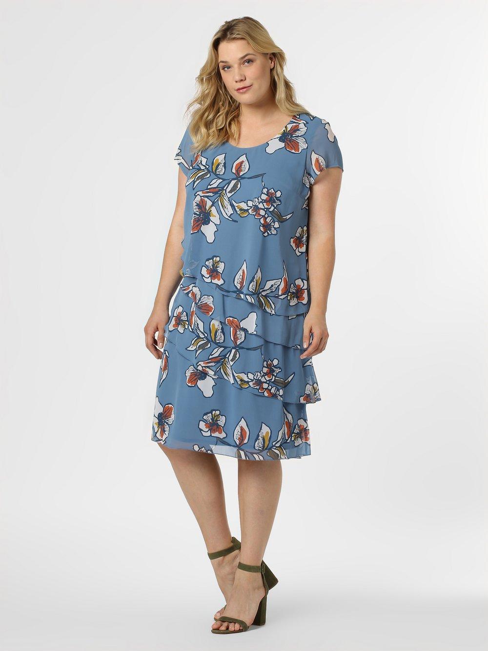 Samoon - Sukienka damska, niebieski
