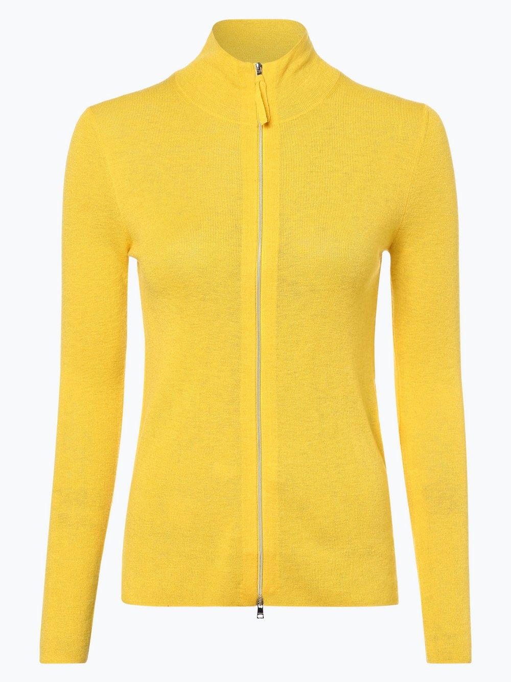 Marc Cain Collections – Kardigan damski z dodatkiem kaszmiru, żółty Van Graaf 440489-0001