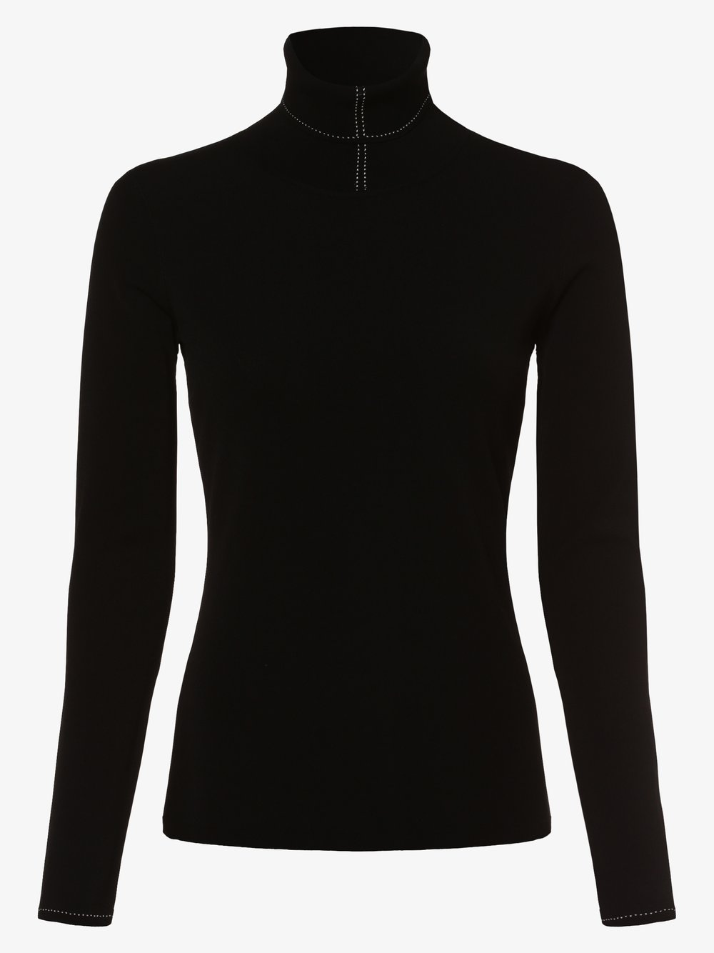 Marc Cain Collections – Damska koszulka z długim rękawem, czarny Van Graaf 440522-0001-00400