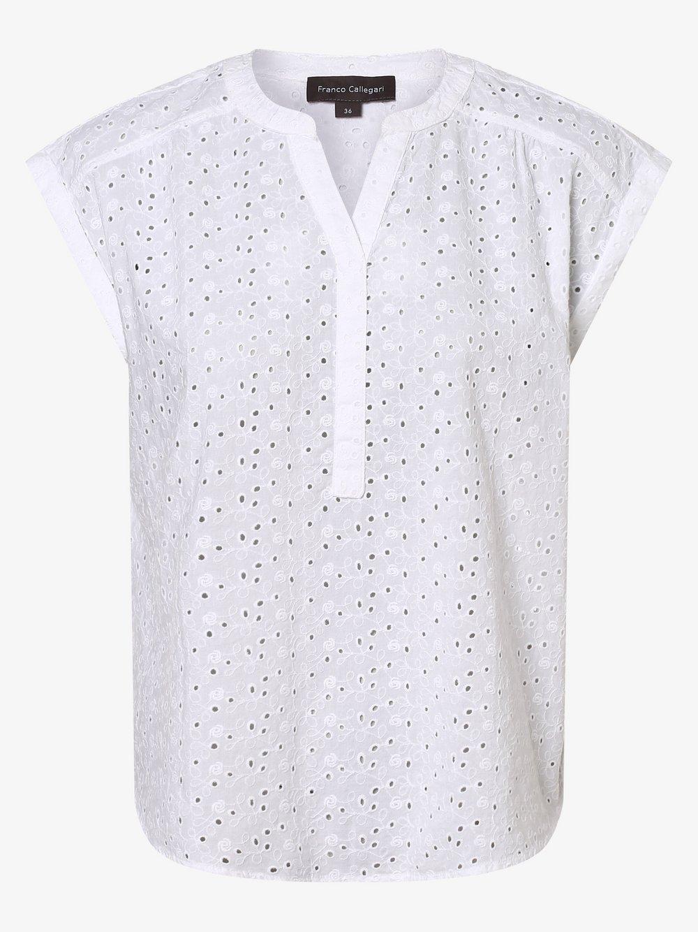 Franco Callegari – Bluzka damska, biały Van Graaf 440715-0009-00420