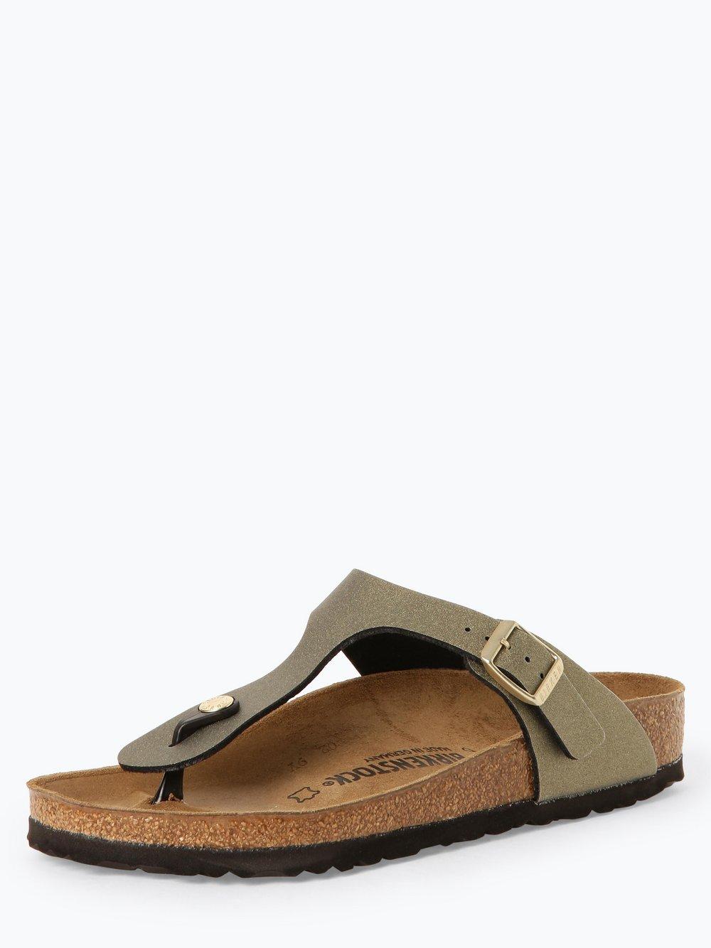 Birkenstock - Sandały damskie z dodatkiem skóry – Gizeh BS, złoty