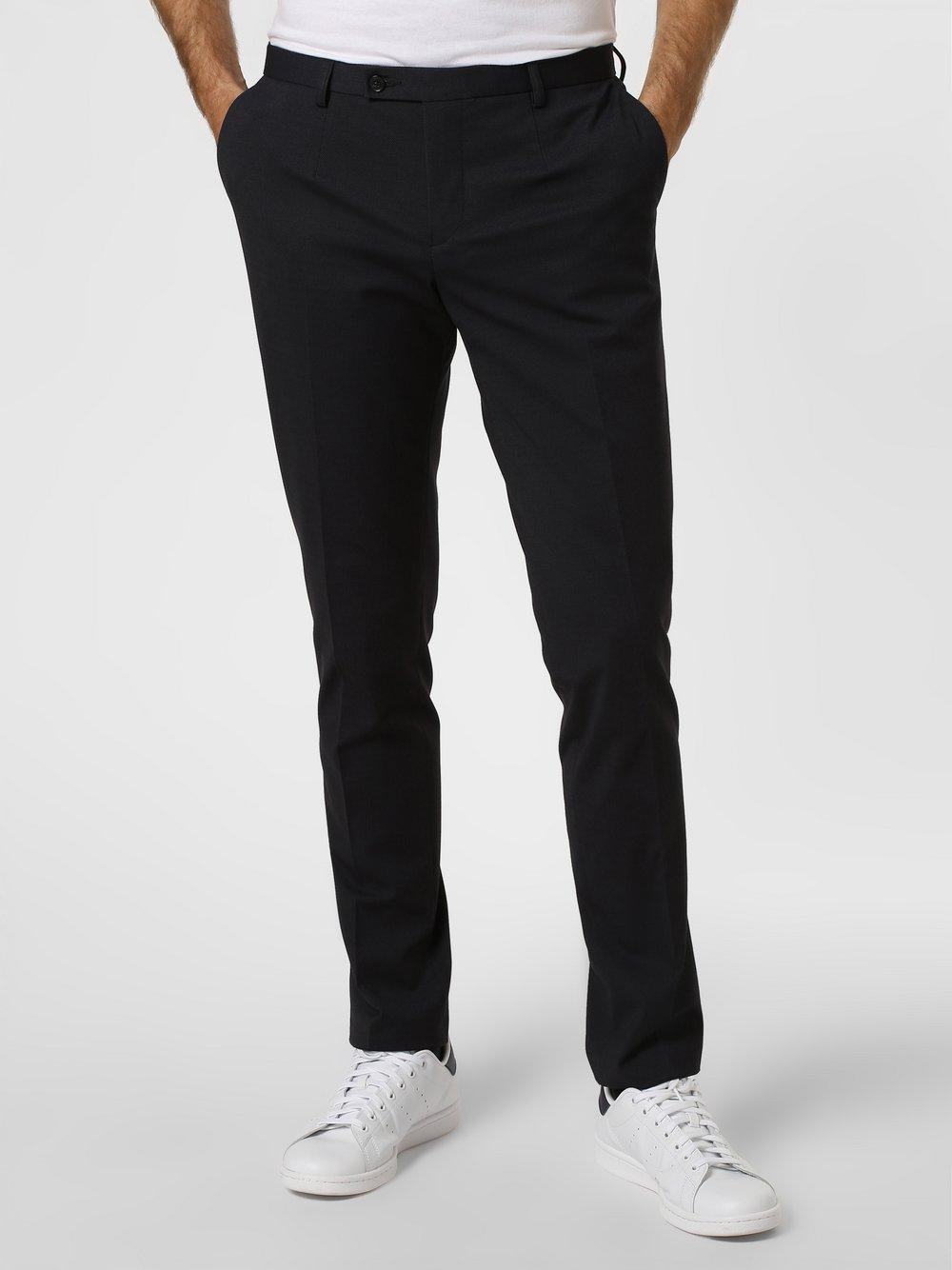 Finshley & Harding London - Męskie spodnie od garnituru modułowego – Hudson, niebieski