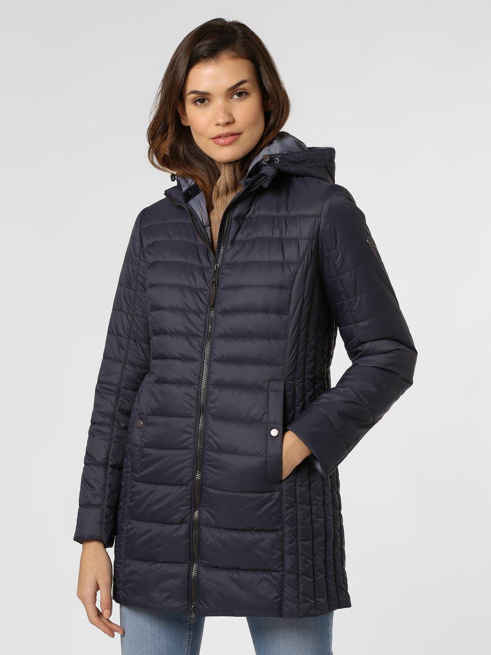 Franco Callegari - Damski płaszcz pikowany, niebieski