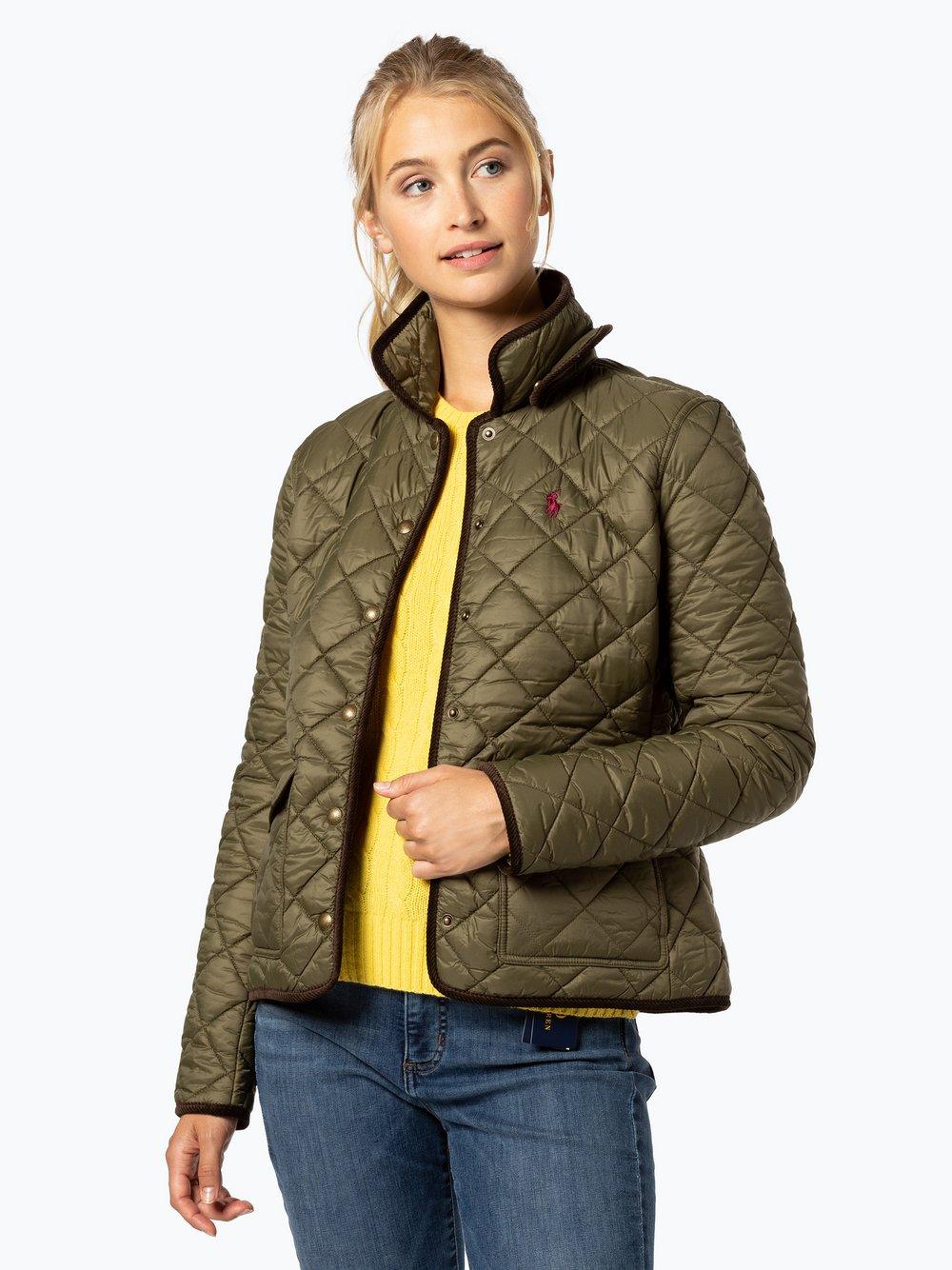 Polo Ralph Lauren - Damska kurtka pikowana, zielony