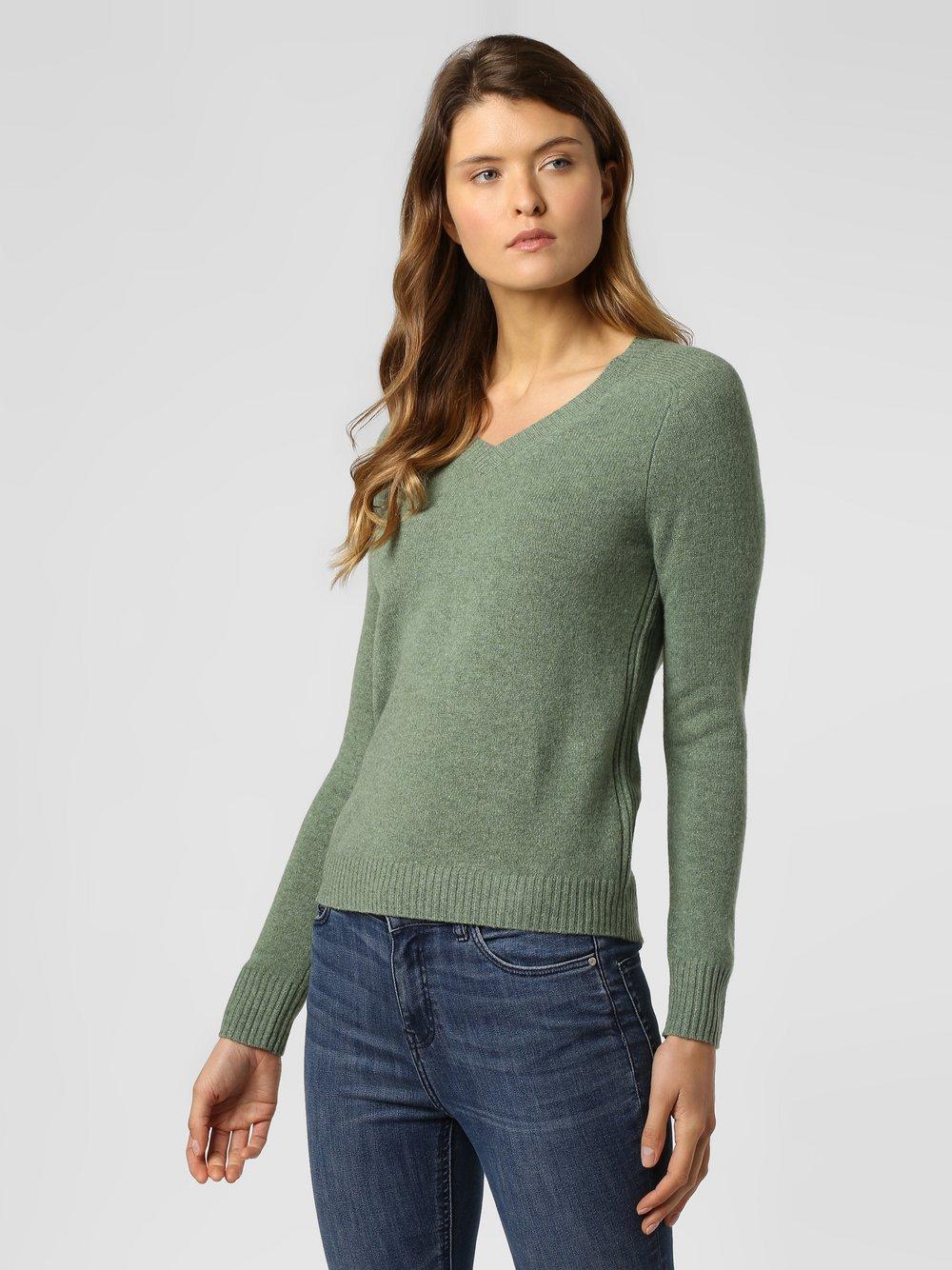 Franco Callegari - Damski sweter z wełny merino, zielony