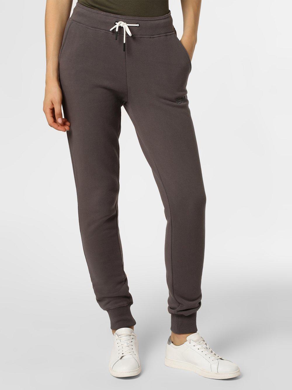 Superdry - Damskie spodnie dresowe, szary