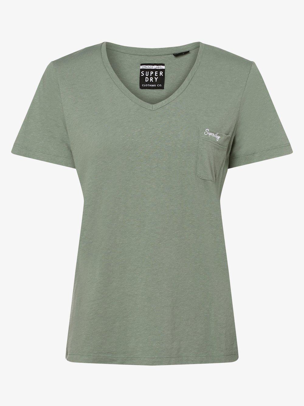 Superdry - T-shirt damski, zielony Superdry