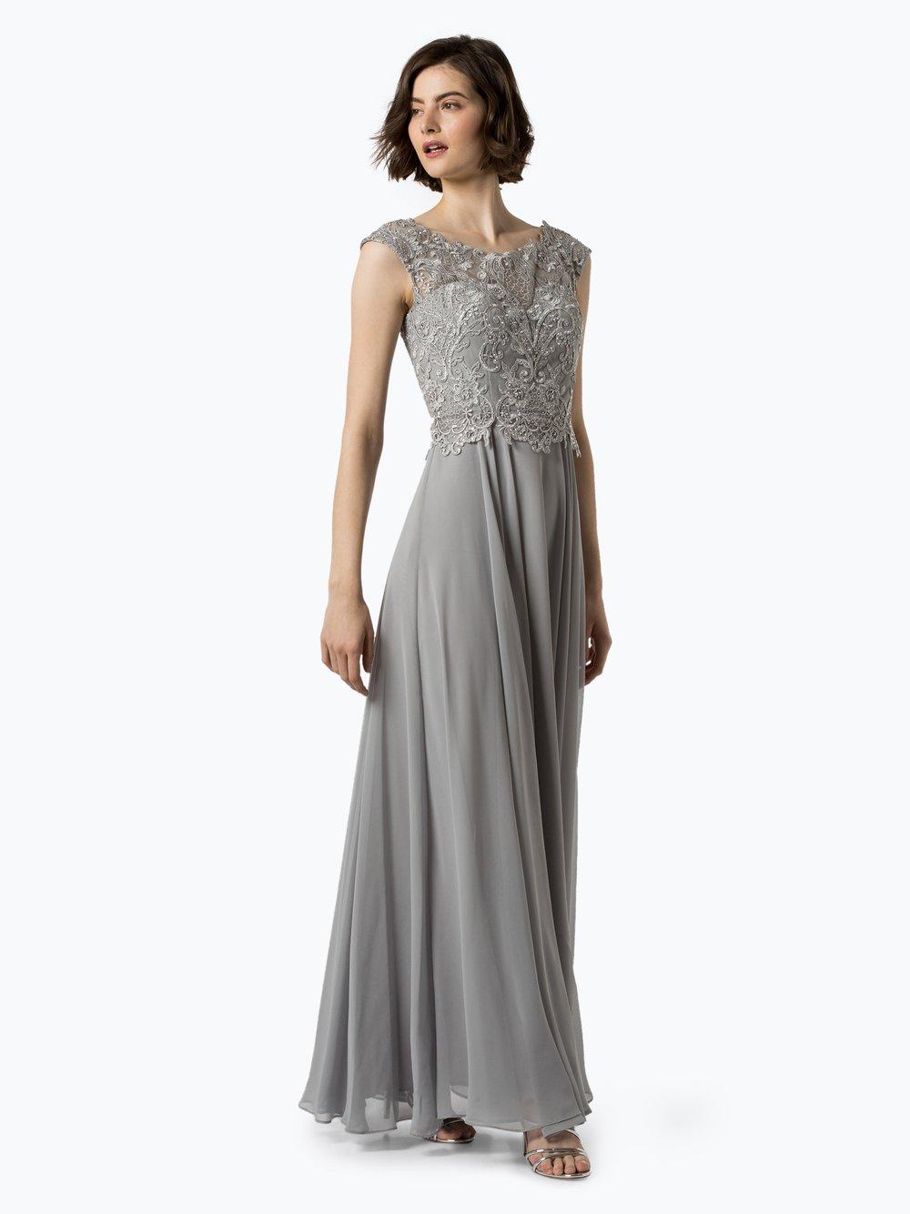 Luxuar Fashion – Damska sukienka wieczorowa, szary Van Graaf 441616-0001