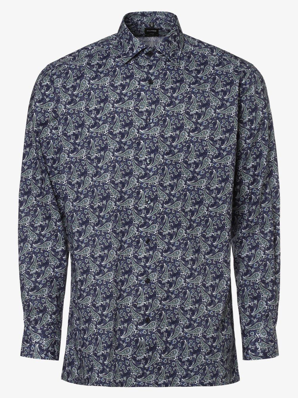 OLYMP Luxor modern Fit – Koszula męska – niewymagająca prasowania, niebieski Van Graaf 441783-0001-00390