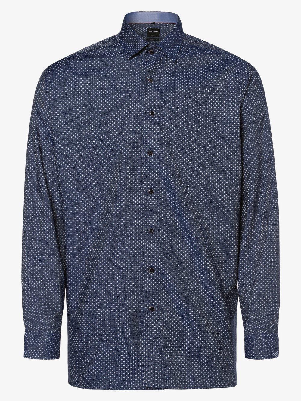 OLYMP Luxor modern Fit – Koszula męska niewymagająca prasowania z bardzo długim rękawem, niebieski Van Graaf 441908-0002-00410