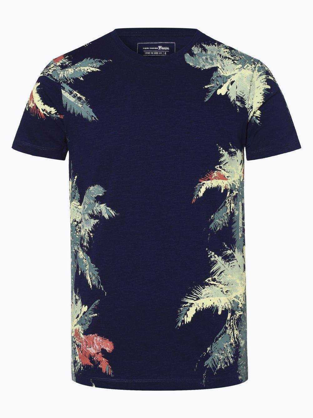 Tom Tailor Denim - T-shirt męski, niebieski