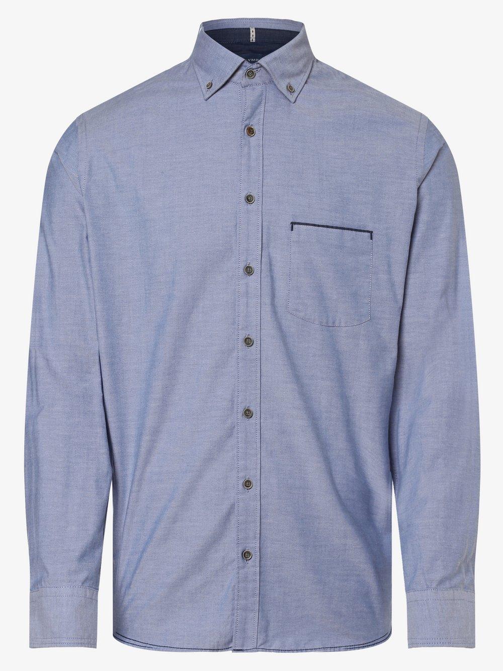 OLYMP Casual modern fit – Koszula męska, niebieski Van Graaf 441984-0001-09940