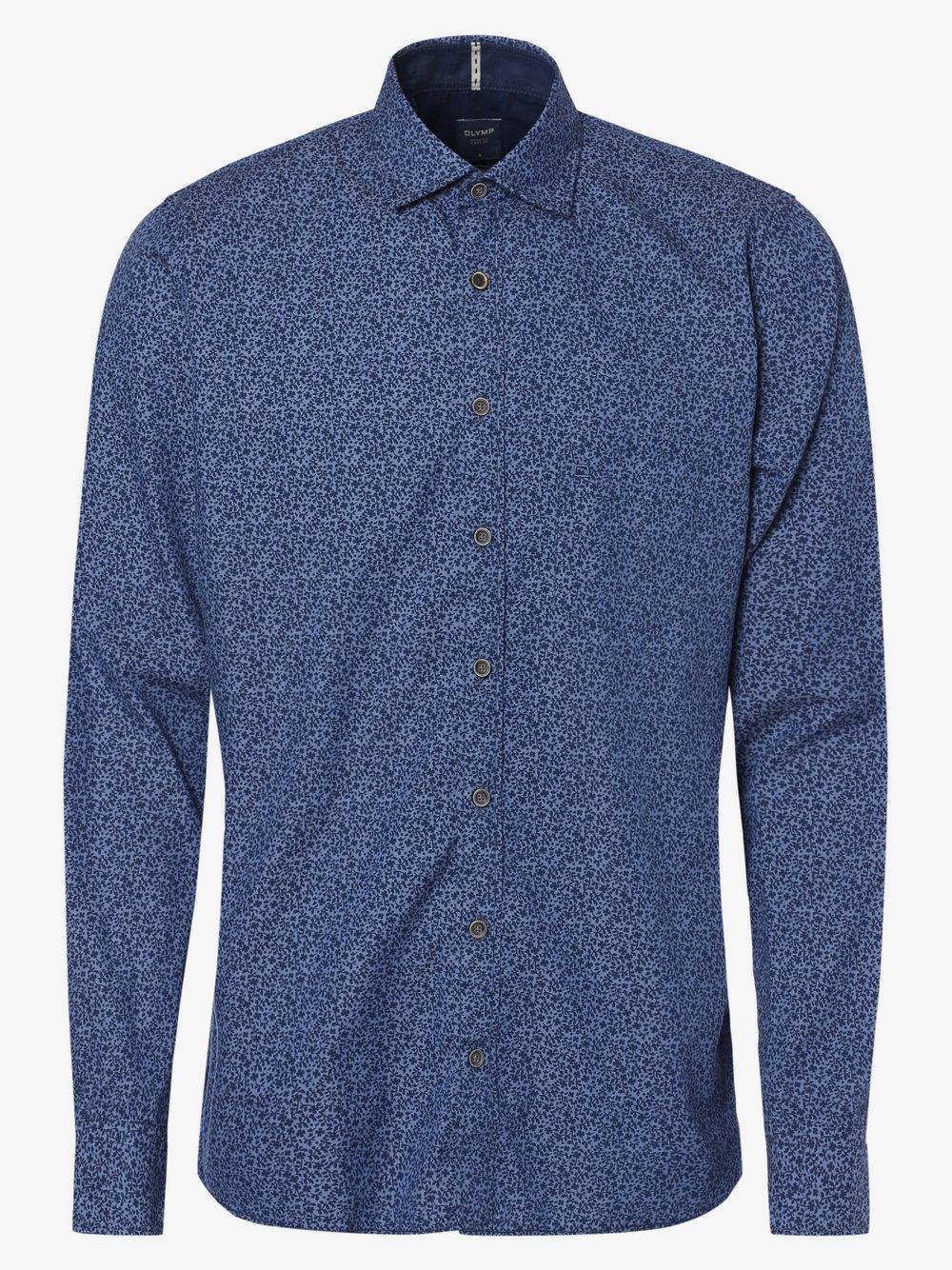 OLYMP Casual modern fit – Koszula męska, niebieski Van Graaf 441985-0001