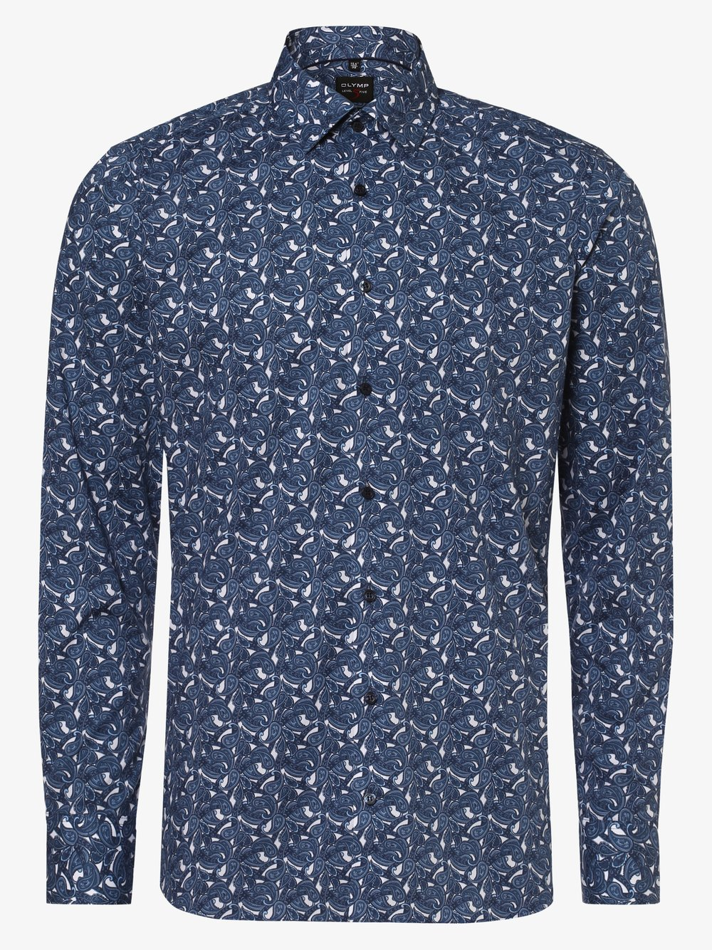 Olymp Level Five – Koszula męska łatwa w prasowaniu, niebieski Van Graaf 442117-0001-00380