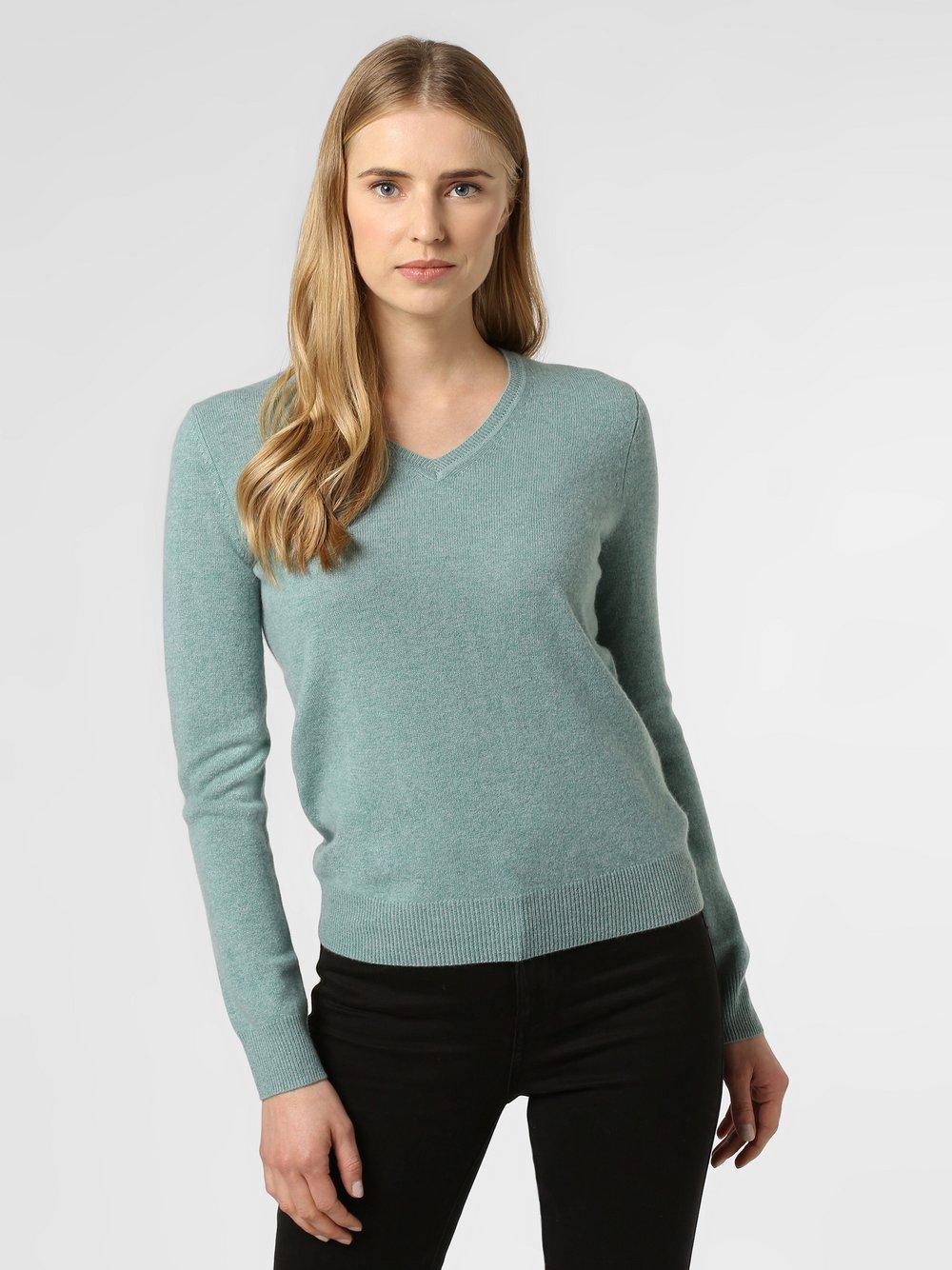 Franco Callegari - Sweter damski z czystego kaszmiru, niebieski