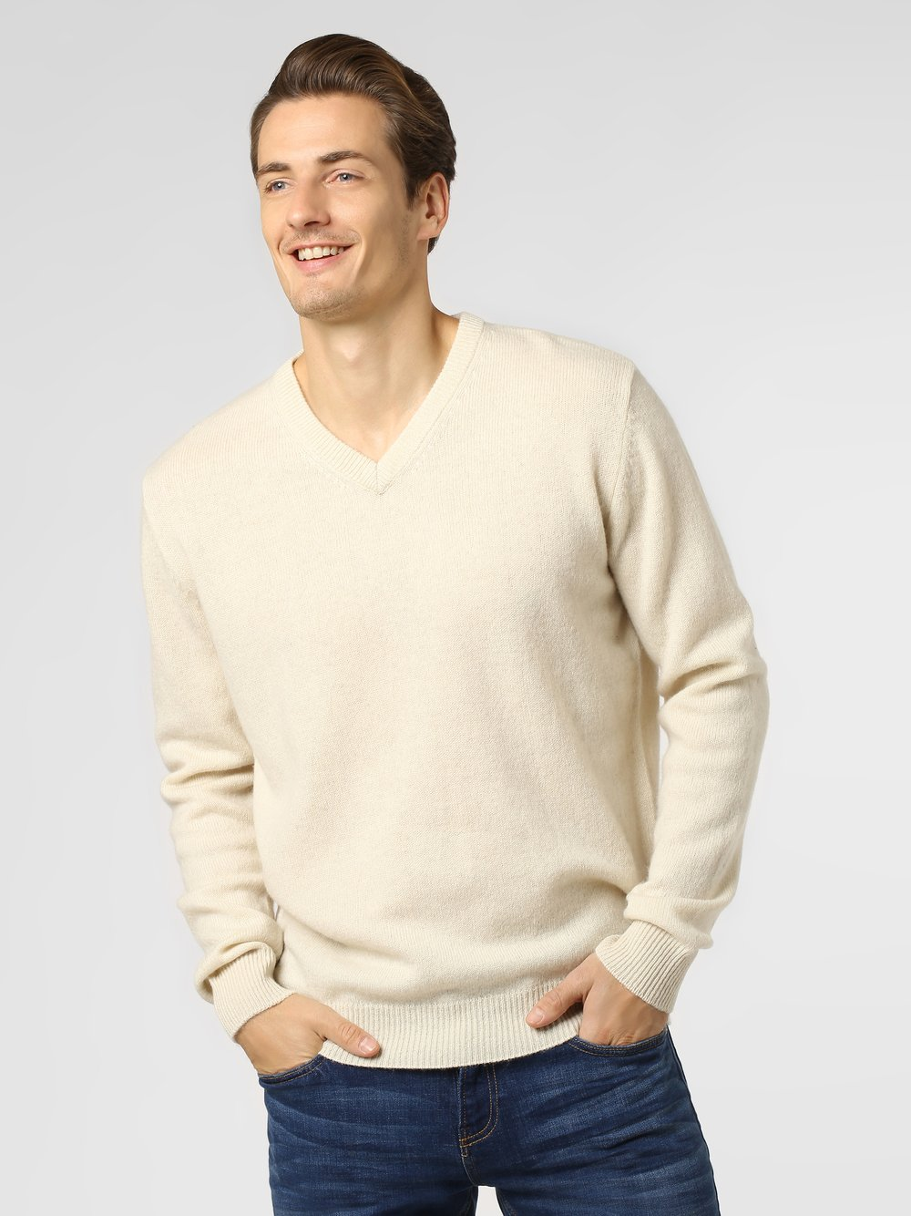 Andrew James - Sweter męski, beżowy